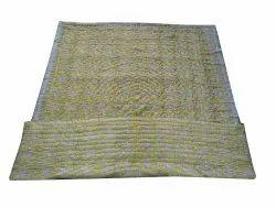 Yellow Block Print Cotton Quilt