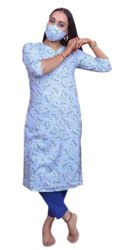 Casual Wear Straight Ladies Rayon Kurti, Wash Care: Handwash