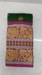 Printed Designer Border Wedding Saree, Saree Length: 5.2 m (separate blouse piece), With Blouse