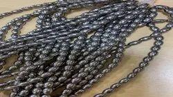 Brown Pressed Beads Gun Metal Coating, Packaging Type: Packet, Round