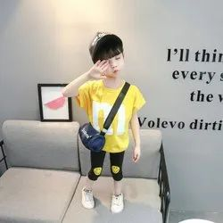 Yellow Children's Clothes Kids Girl Clothes Fashion Girl Clothing Set