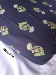 RR Fabric 44-45 Ladies Printed Rayon Blue Dress Material, For Garments