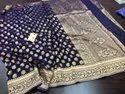 6 M (with Blouse Piece) Festive Wear Printed Pure Banarasi Silk Sarees