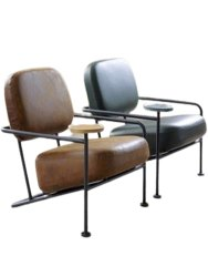 Jassi Brothers Polished Powder Coated Iron Chair, For Cafe