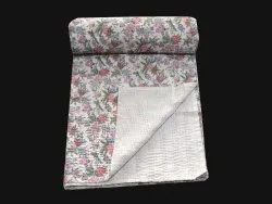 Floral Design Cotton Kantha Gudari