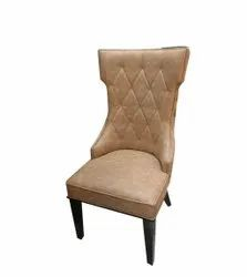 Brown Leather Dining Chair, For Home, Hotel