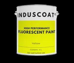 Matt Yellow Fluorescent Paint Induscoat, Liquid, Packaging Size: 4 Litre
