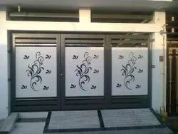 Manual Hinged Stylish Metal Main Gate, Size: 5 Feet