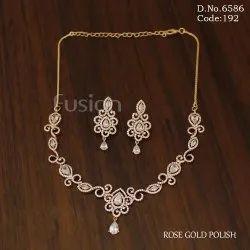 Fusion Arts American Diamond Necklace Set
