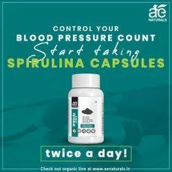 AE Naturals Organic Spirulina Capsules