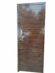 Glossy Brown PVC Bathroom Door