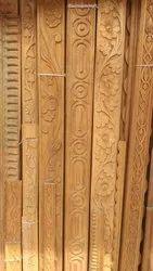 Teak Wood Wooden Beading Patti, For Restaurants, 8 Mm