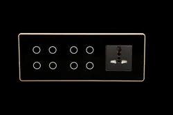 LUMI Smart Wifi/Z-wave Modular Touch Switch 8 Touch 1 Socket