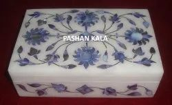Exclusive Marble With Semi Precious Mother Of Pearl Small Function Gifting Box