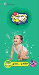 Snuggy High Absorbency Protection Pants Medium Size Baby Diapers 56 Counts, Anti Rash Diapers