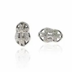 Uneven Shape Filigree Beads Finding
