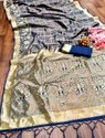 Present Banarasi Silk Good Looking Saree With Heavy Good Looking Design