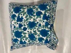 Cotton Block Print Cushion Cover