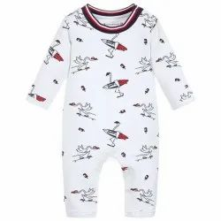 White Kids Round Neck Winter Wear Baba Suit, Size: Medium