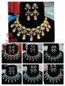 Kundan Meena Diamond Polki Necklace Set