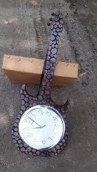 Wooden Wall Clock getar 16in