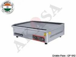 Silver Stainless Steel AKASA Indian Electric Griddle Plate, For Restaurant, Size: 18 X 12 Inch
