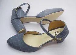 Grey Party Wear FLOOJO Ladies Strip Heel Sandal, Size: 6