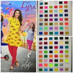 Cotton Straight lux lyra ankle length leggings, Size: Free Size