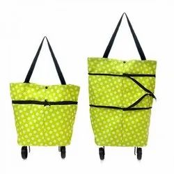 Synthetic Plain Trolley Shopping Bags, Size: Medium