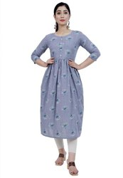 Cotton Casual Wear Anarkali Kurti, Wash Care: Machine wash