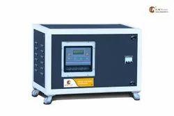 AM Power Three Phase 10 kVA Digital Automatic Servo Voltage Stabilizer, Floor