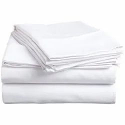 Hospital White Polycotton Bed Sheet, Size: 60 x 90 Inch