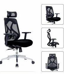 Executive High Back Chair - Ergon Cush Black