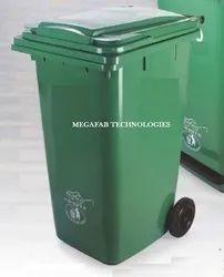 240 Liters Wheeled Plastic Garbage Bin