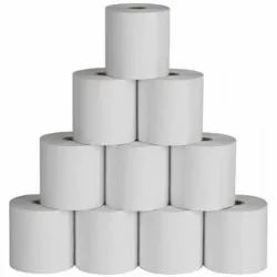 Plain White Thermal Paper Roll, For Printing, GSM: 80 - 120 GSM