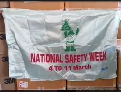 NATIONAL SAFEETY WEEK FLAG - SATIN FABRIC
