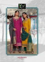 Kessi Raj Gharana Vol 2 Jam Silk With Embroidery Work Dress Material Catalog