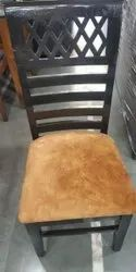 Leather Black Dining Table Chair, For Home, Set Size: Single