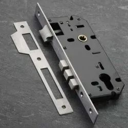 Stainless Steel Mortise Door Lock, Chrome, Size/Dimension: 45 X 85 Mm