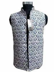 Partex Mens Party Wear Sleeveless Printed Cotton Koti, Wash Care: Handwash