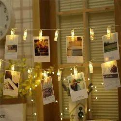 Plastic Warm White LED Photo Clip Lights, 3 X 300 Cm, 5 W