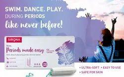 Viscose Fibers Sirona Premium Digital Tampon Ragular Flow Tampon Pack of 20