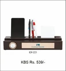 Pen & Mobile Stand With Clock