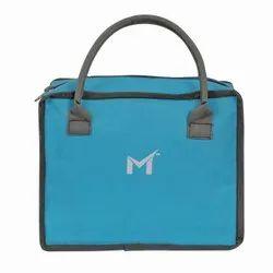 Polyester SMS BAG HOUSE Tiffin Bag Cum Makeup Kit Bag For Girls (SKY Blue)