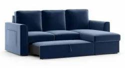 Navy Blue Modern Sofa Cum Bed, Living Room