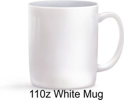 Plain Ceramic White Sublimation Coffee Mug