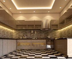 Wooden L Shape Modular Kitchen, Work Provided: Wood Work & Furniture, Warranty: 1-5 Years