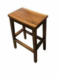 Brown Wooden Seating Stool, 3 Feet, Thickness: 40 Mm