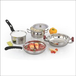 Stainless Steel Polished DIAMOND 5PCS COOKWARE SET, For Home