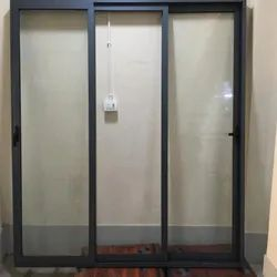 Powder Coated Modern Aluminium Frame Glass Window, For Office